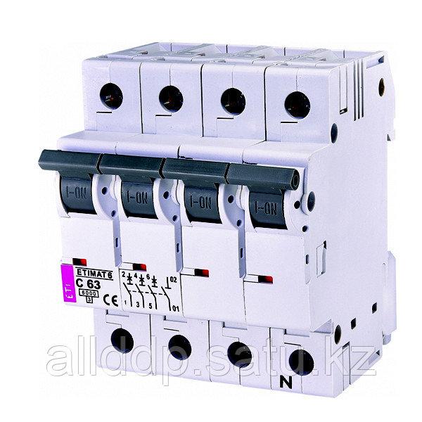 Автоматический выключатель ETIMAT 6 3p+N C63