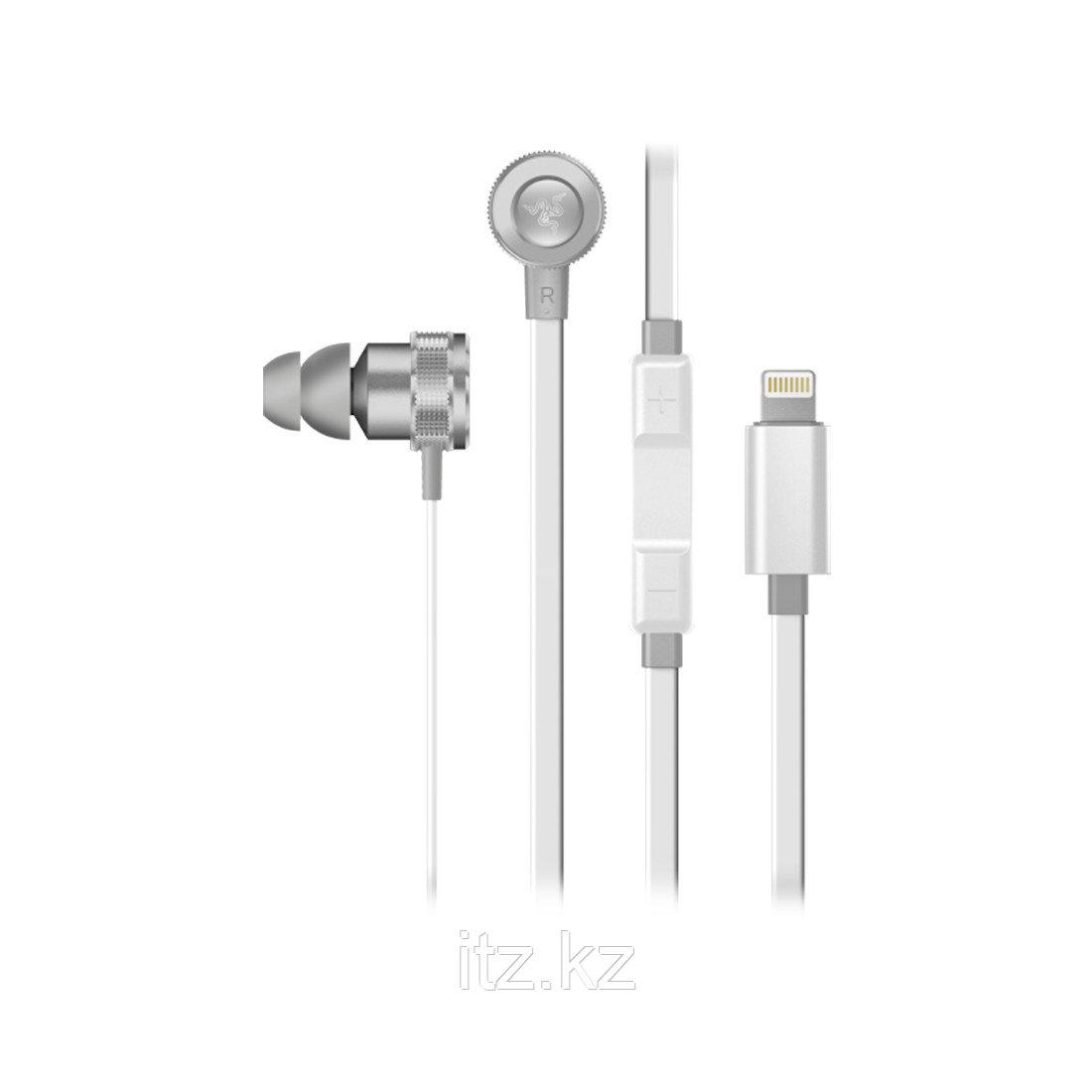 Наушники с микрофоном Razer Hammerhead for iOS (Mercury Edition)