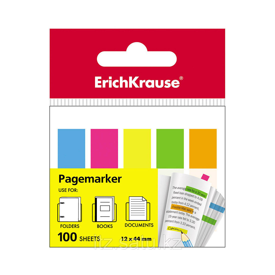 Закладки пластиковые с клеевым краем ErichKrause