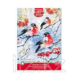Альбом для рисования с бумагой для акварели на клею ArtBerry