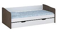 Кровать детская выдвижная Polini kids Simple 4210 белый-трюфель, фото 1