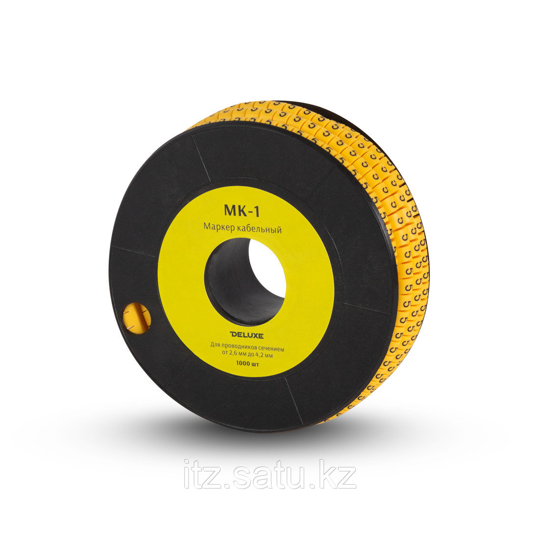 """Маркер кабельный Deluxe МК-1 (2.6-4,2 мм) символ """"1"""" (1000 штук в упаковке)"""