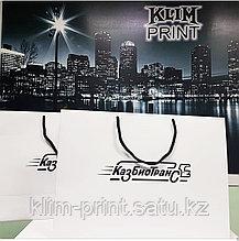 Бумажные пакеты в Алматы Изготовление бумажных пакетов в Алматы Печать бумажных пакетов в Алматы