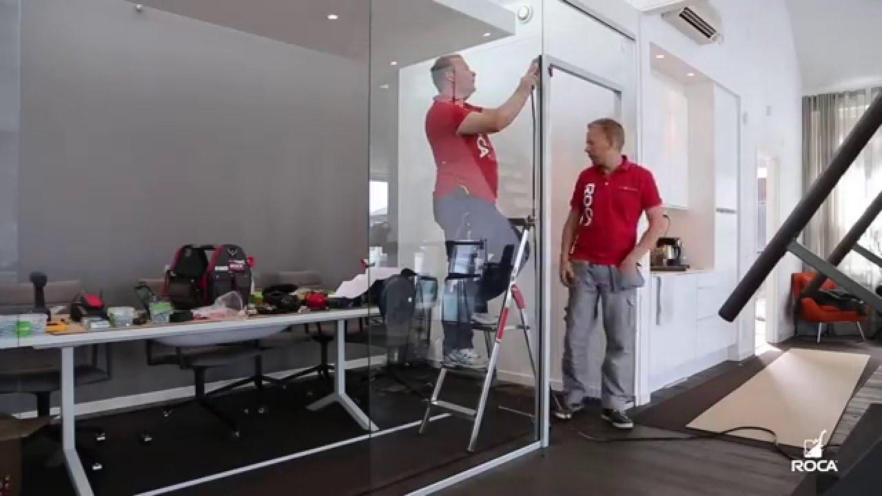 Установка стеклянных душевых кабин, офисных перегородок - фото 5