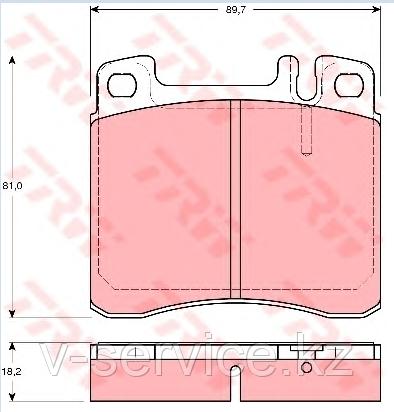 Тормозные колодки  W140(002 420 03 20)(MB)(REMSA 408.00)