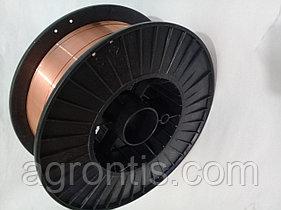 Сварочная проволока омедненная ER70S-6 ( Св-08Г2С ) д. 1.0 мм, 5кг