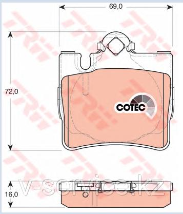 Тормозные колодки  W220(003 420 19 20)(ATE 13.0460-4069.2)(REMSA 770.00)