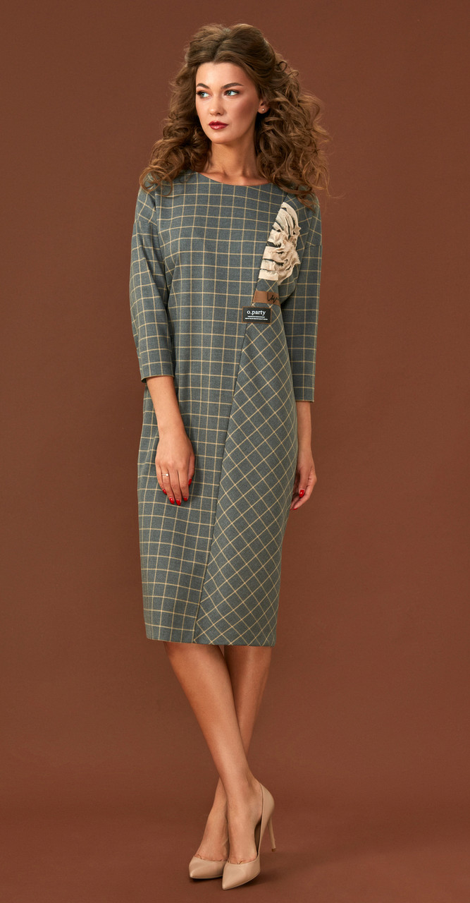 Платье Магия Моды-1636, серый, 52