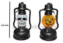 Светящиеся LED Брелки в форме черепа и тыквы на Хэллоуин 7.8 см