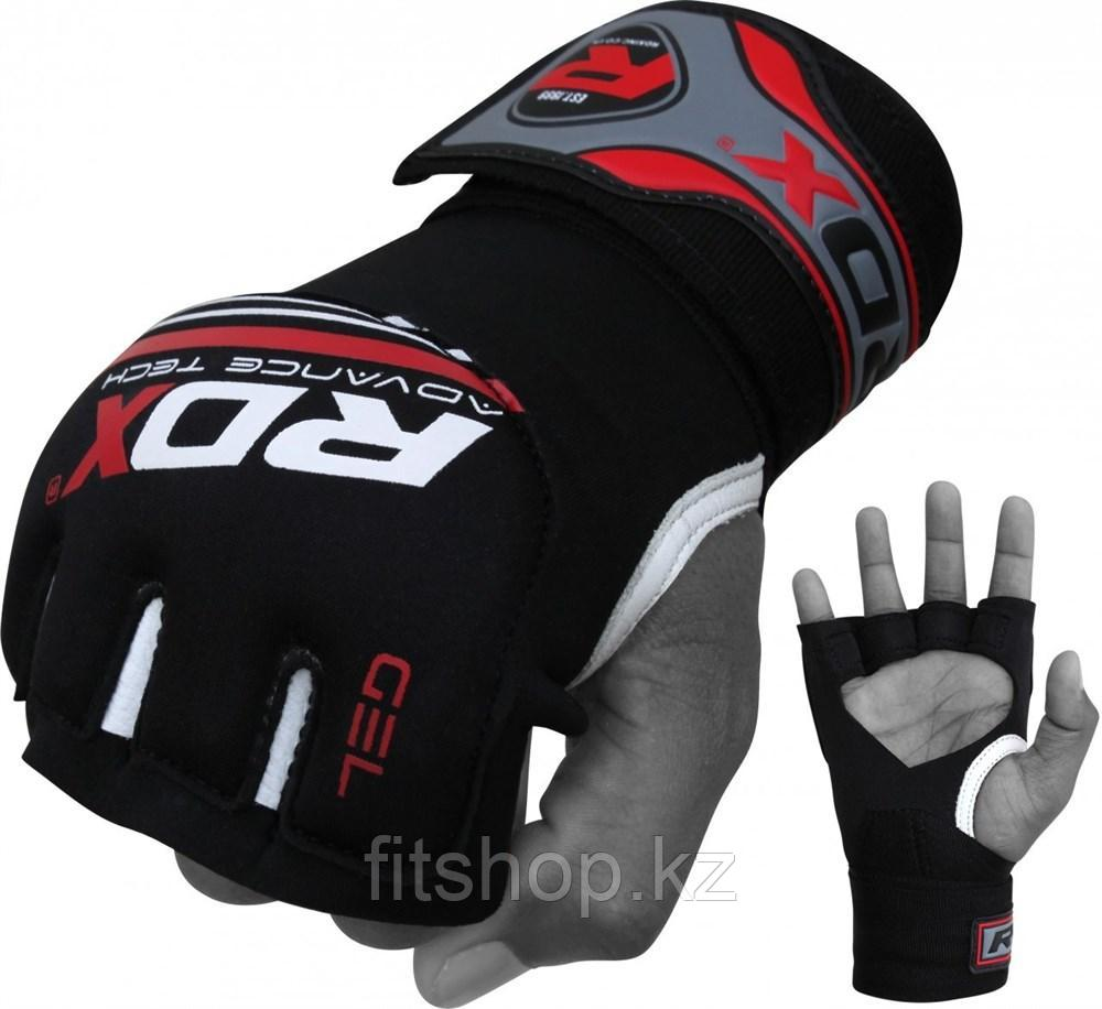 Быстрые бинты RDX Black/Red Hand Wraps Grappling Gloves X3