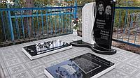Памятники гранитные и мраморные с надгробной плитой либо с цветником , столиком , скамьёй