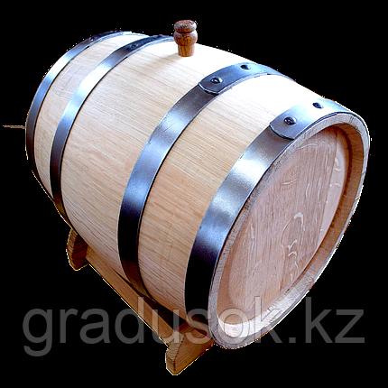 Бочка дубовая 15 литров с краном обжиг сильный, фото 2