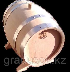 Бочка дубовая 10 литров с краном обжиг сильный
