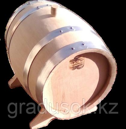 Бочка дубовая 10 литров с краном обжиг сильный, фото 2