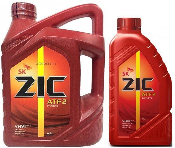 Трансмиссионное масло для АКПП и ГУР ZIC ATF 2 1L