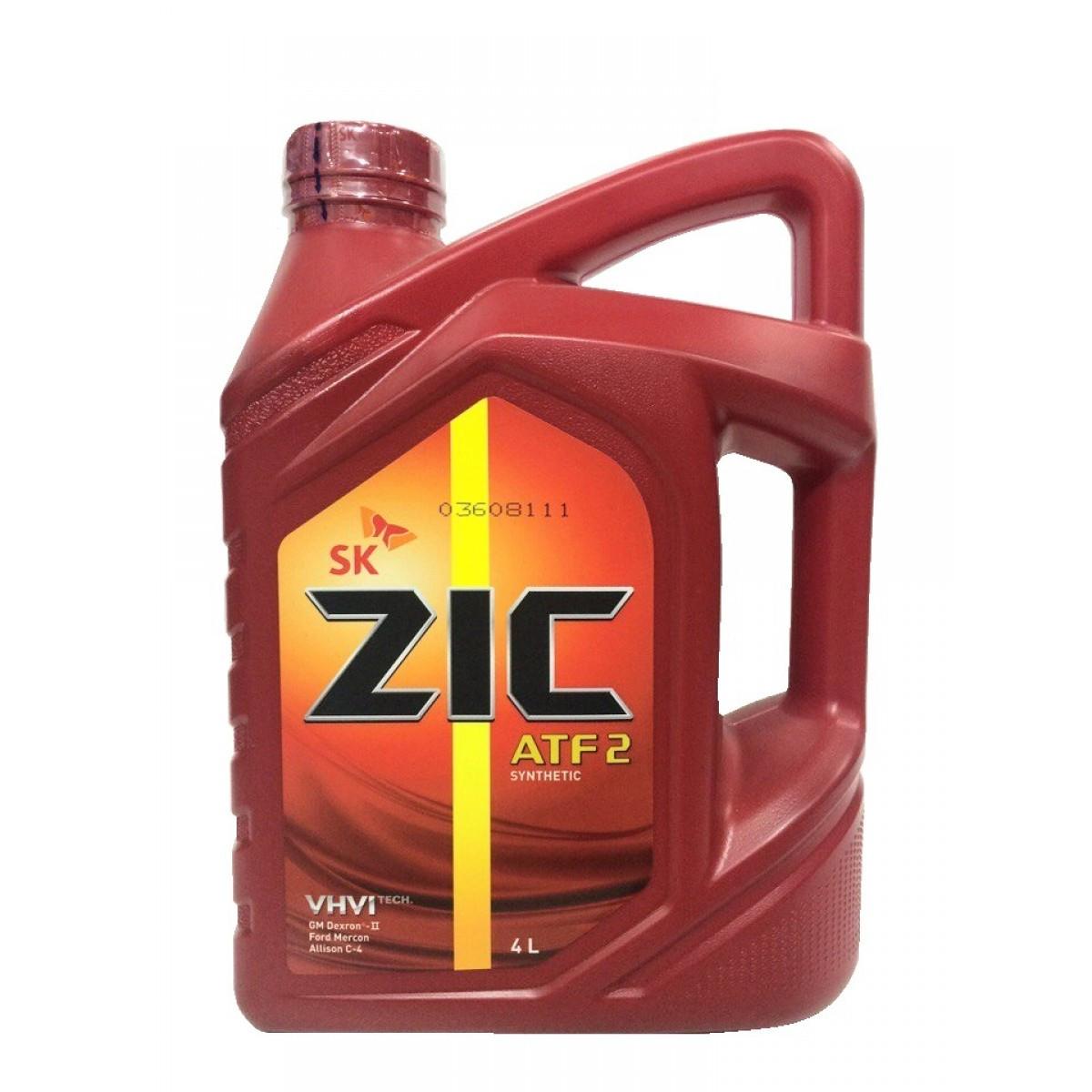 Трансмиссионное масло для АКПП и ГУР ZIC ATF 2 4L