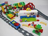 """Конструктор Building Bricks аналог Лего Дупло LEGO DUPLO Набор """"Большой поезд"""" с Мостом 152 деталей., фото 3"""