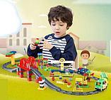 """Конструктор Building Bricks аналог Лего Дупло LEGO DUPLO Набор """"Большой поезд"""" с Мостом 152 деталей., фото 7"""