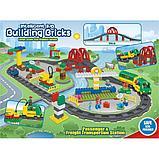 """Конструктор Building Bricks аналог Лего Дупло LEGO DUPLO Набор """"Большой поезд"""" с Мостом 152 деталей., фото 6"""