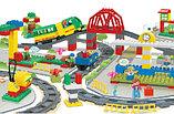 """Конструктор Building Bricks аналог Лего Дупло LEGO DUPLO Набор """"Большой поезд"""" с Мостом 152 деталей., фото 8"""