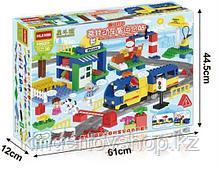 """Конструктор Building Bricks аналог Лего Дупло LEGO DUPLO Набор """"Большой поезд"""" ж\д город 125 деталей."""