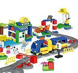 """Конструктор Building Bricks аналог Лего Дупло LEGO DUPLO Набор """"Большой поезд"""" ж\д город 125 деталей., фото 6"""