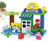 """Конструктор Building Bricks аналог Лего Дупло LEGO DUPLO Набор """"Большой поезд"""" ж\д город 125 деталей., фото 7"""
