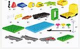 """Конструктор Building Bricks аналог Лего Дупло LEGO DUPLO Набор """"Большой поезд"""" ж\д город 125 деталей., фото 8"""