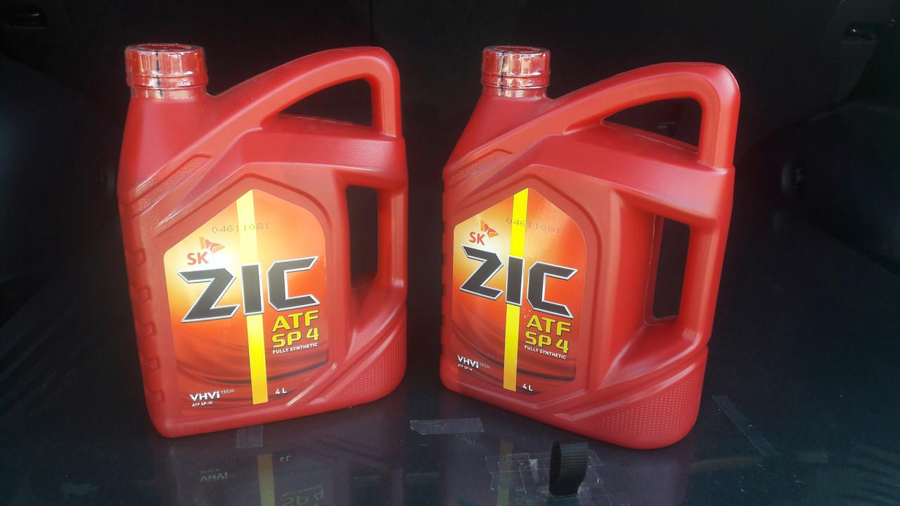 Трансмиссионное масло для АКПП ZIC ATF SP 4 Hyundai-KIA ATF SP-IV 4L