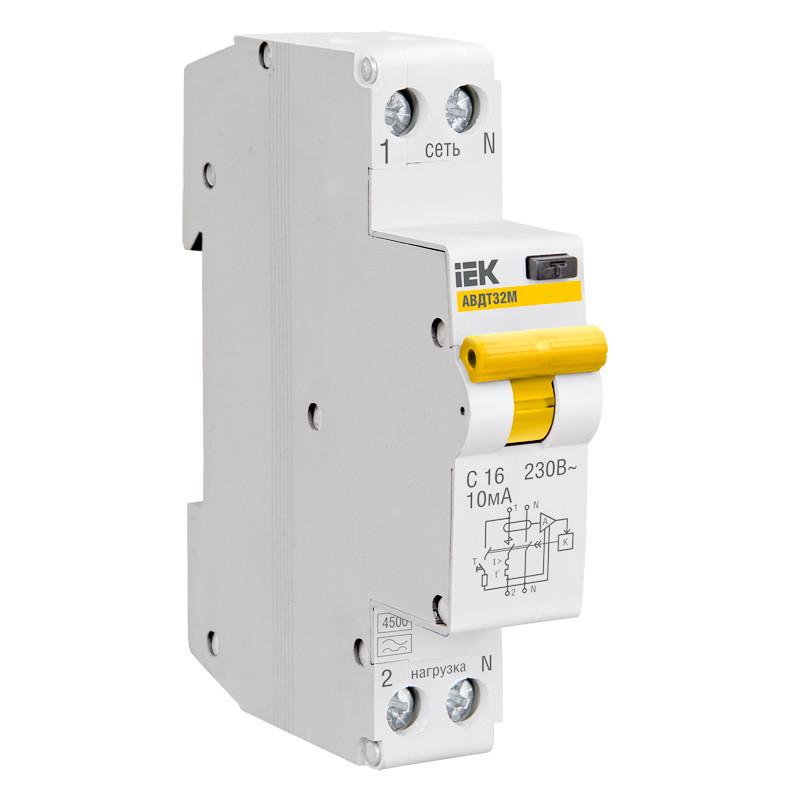 Выключатель автоматический модульный 1п C 6А 4.5кА ВА47-29 ИЭК MVA20-1-006-C