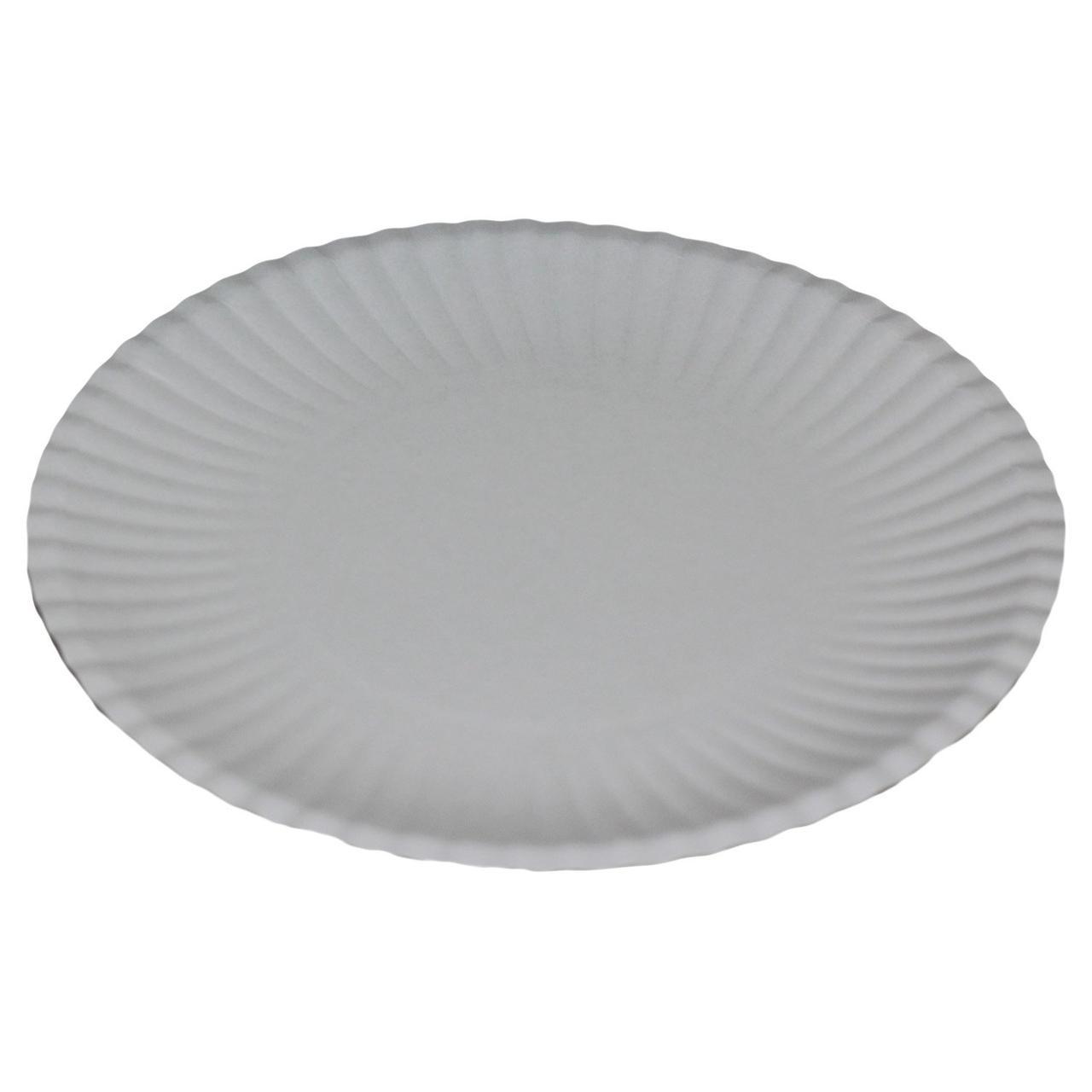 Тарелка d 240мм, мелован., бел., картон, 700 шт