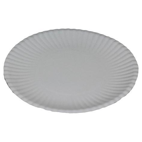 Тарелка d 240мм, мелован., бел., картон, 700 шт, фото 2