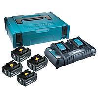 Аккумулятор BL1860B 4 шт и зарядное устройство DC18RC в кейсе MakPac Makita