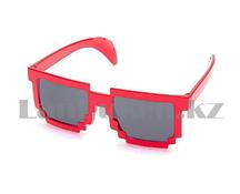 Карнавальные очки Майнкрафт (Minecraft) красные