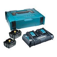Аккумулятор BL1860B 2 шт и зарядное устройство DC18RC в кейсе MakPac Makita