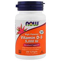 БАД Витамин D3, 5000 ME (240 капсул)