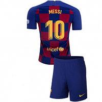 Футбольная форма ФК Барселона 2019-2020  домашняя детская (комплект футболка+шорты)