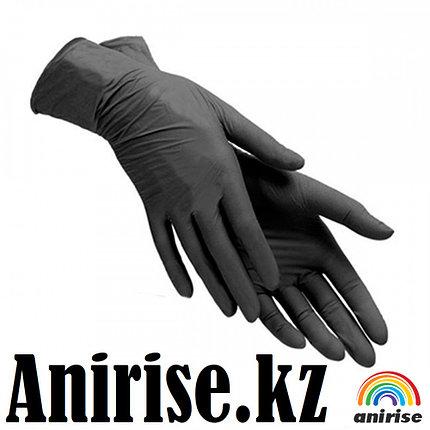 Перчатки черные нитриловые, фото 2