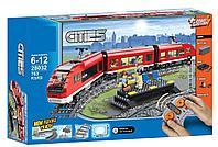 Конструктор аналог лего LELE Cities Красный пассажирский поезд 28032 (Аналог LEGO City 7938) 763 дет
