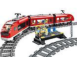 Конструктор аналог лего LELE Cities Красный пассажирский поезд 28032 (Аналог LEGO City 7938) 763 дет, фото 3