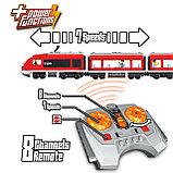 Конструктор LELE Cities Красный пассажирский поезд 28032 (Аналог LEGO City 7938) 763 дет, фото 4