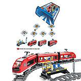 Конструктор LELE Cities Красный пассажирский поезд 28032 (Аналог LEGO City 7938) 763 дет, фото 7