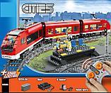 Конструктор LELE Cities Красный пассажирский поезд 28032 (Аналог LEGO City 7938) 763 дет, фото 9