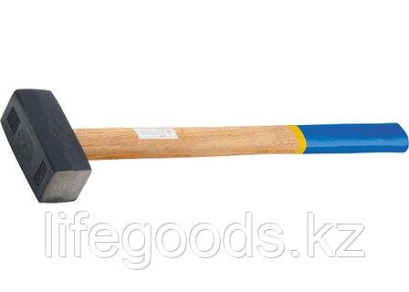 Кувалда, 7000 г, кованая головка, деревянная рукоятка Сибртех 10934, фото 2