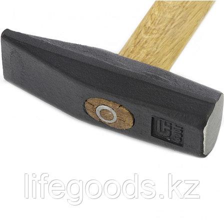 Молоток слесарный 600 г, квадратный боек, деревянная рукоятка Сибртех 10219, фото 2