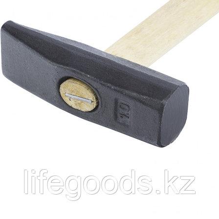 Молоток слесарный, 1000 г, квадратный боек, деревянная рукоятка Россия 10301, фото 2