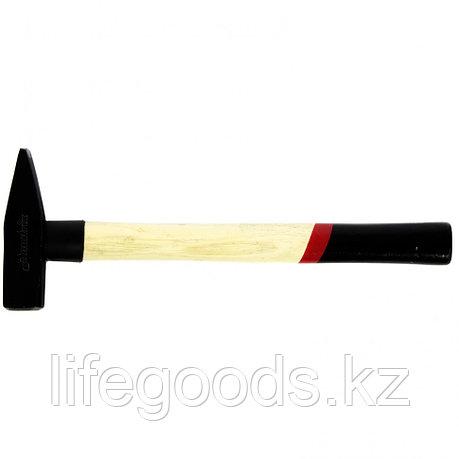 Молоток слесарный, 500 г, квадратный боек, деревянная рукоятка Matrix 10232, фото 2
