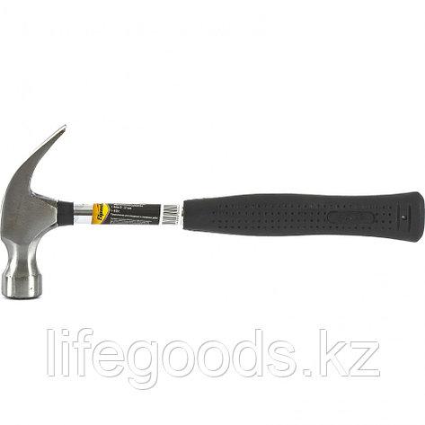 Молоток-гвоздодер, 450 г, боек 27 мм, металлическая трубчатая обрезиненная рукоятка Sparta 104405, фото 2