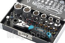 Набор бит и головок торцевых, 1/4, магнитный адаптер, сталь S2, пластиковый кейс, 26 предметов Gross 11361, фото 2