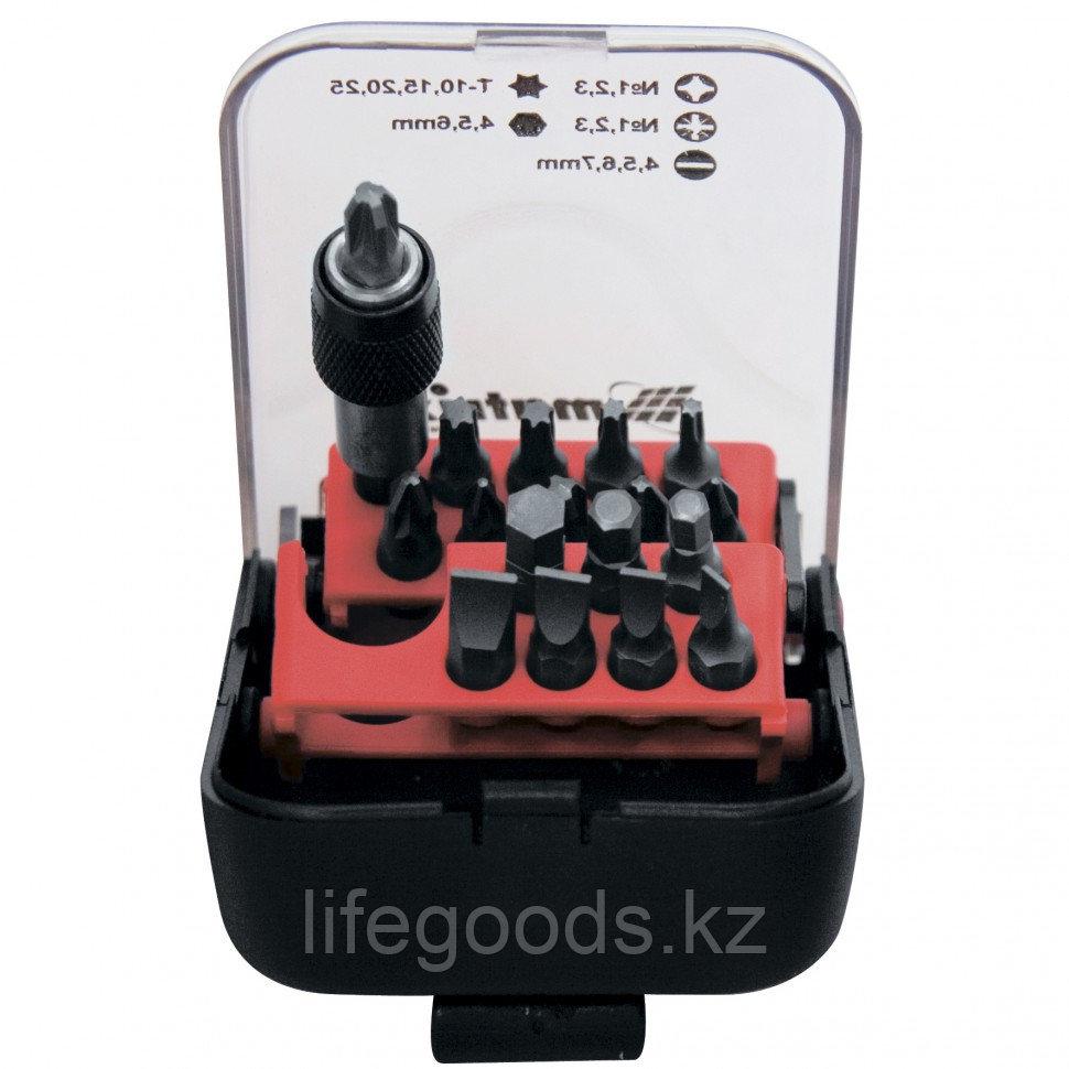 Набор бит, адаптер для бит, сталь S2, 18 предметов, пластиковый кейс Matrix Master 11316